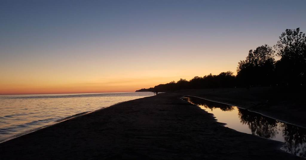 Photo of a sunset at Longpoint Provincial Park in Ontario, Canada, taken by Khyati Dhandha.